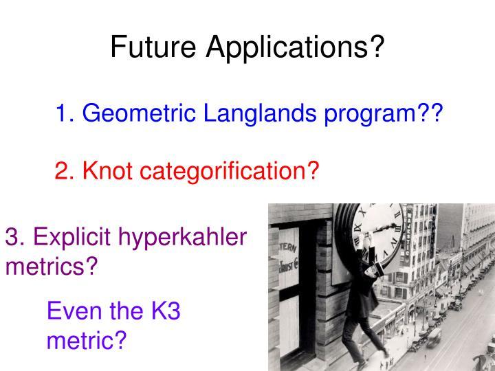 Future Applications?