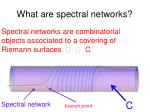 what are spectral networks