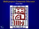 multi purpose c ommunity telecenter floor plan