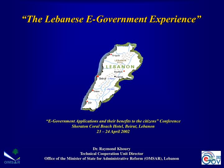 The lebanese e government experience l.jpg