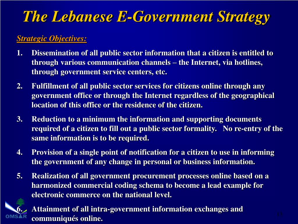 The Lebanese E-Government Strategy