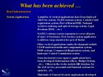 what has been achieved6