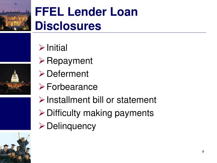 FFEL Lender Loan Disclosures