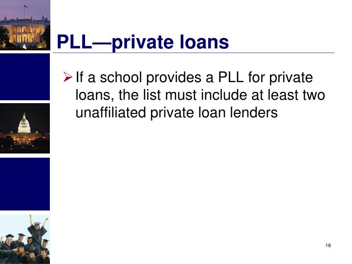 PLL—private loans