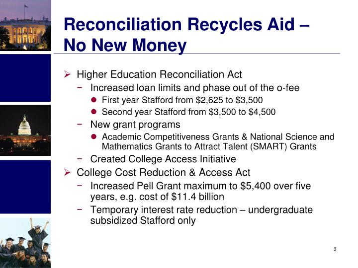 Reconciliation Recycles Aid – No New Money