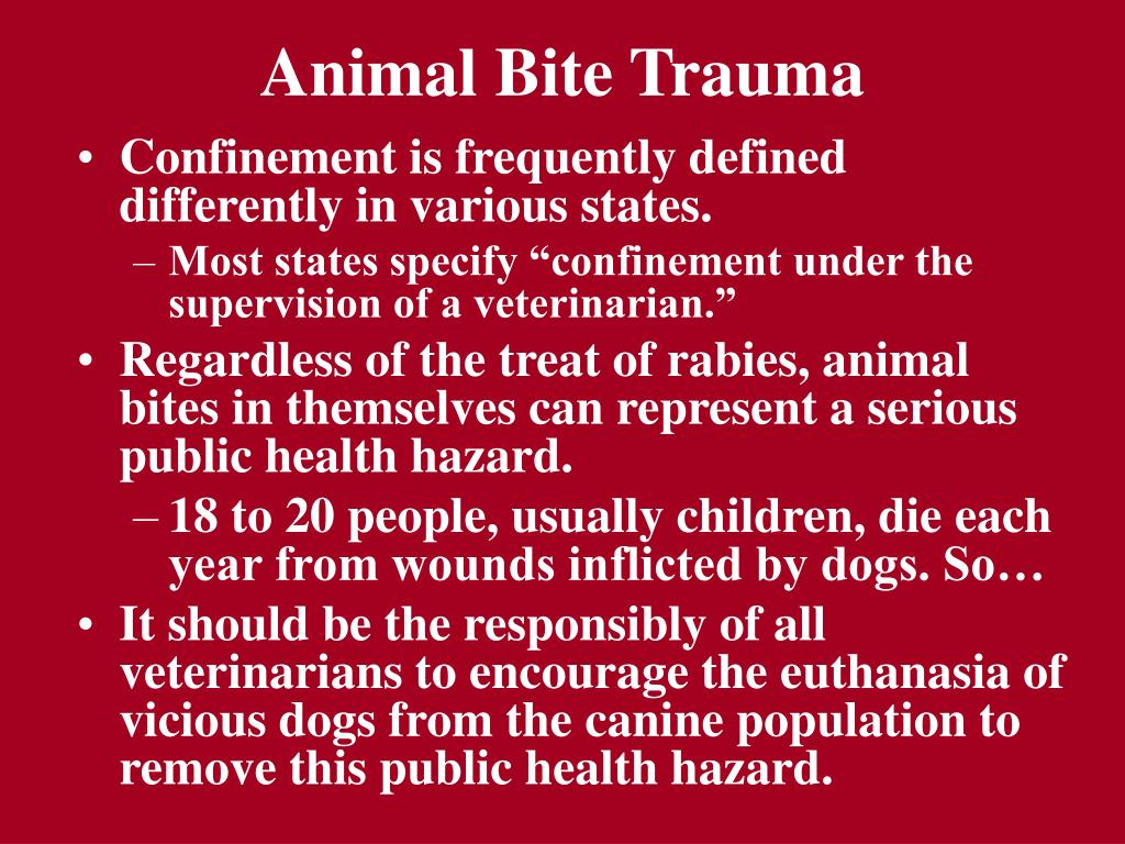 Animal Bite Trauma