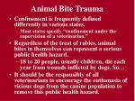 animal bite trauma