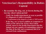 veterinarian s responsibility in rabies control25