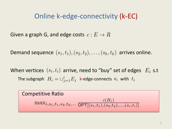 Online k-edge-connectivity