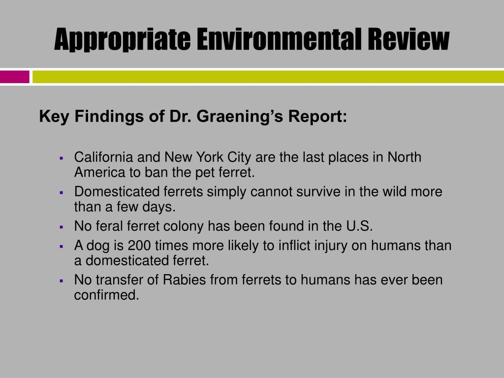 Appropriate Environmental Review