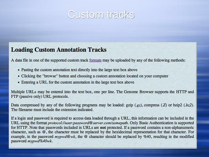 Custom tracks