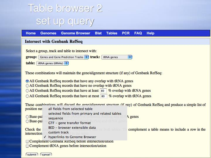Table browser 2