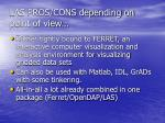 las pros cons depending on point of view