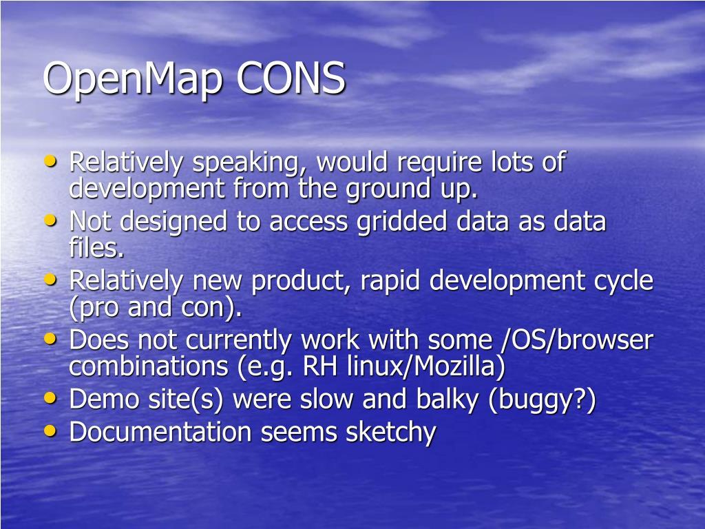 OpenMap CONS