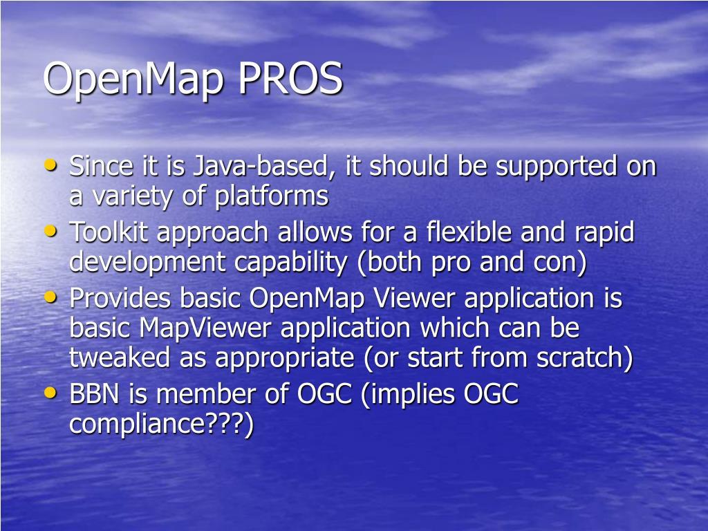 OpenMap PROS