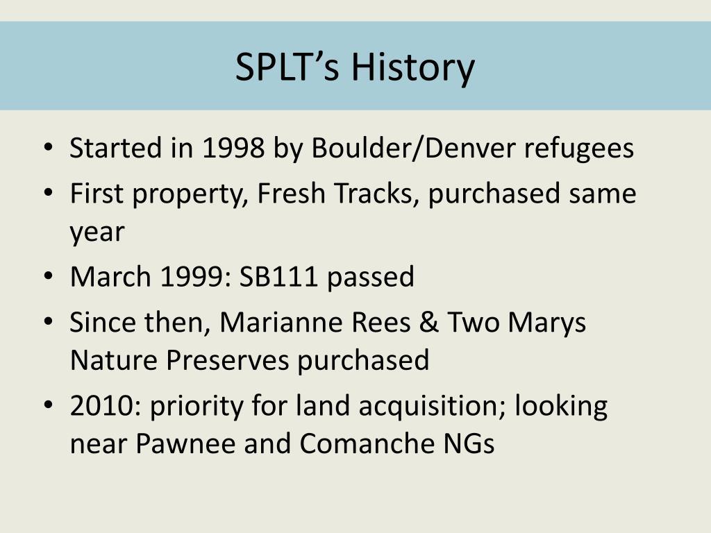 SPLT's History