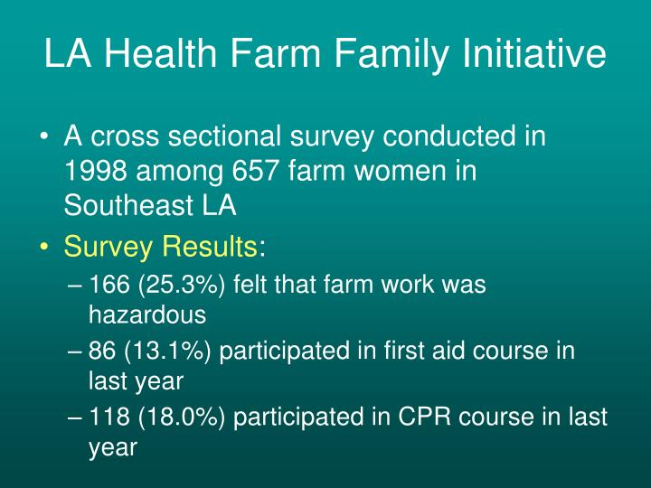LA Health Farm Family Initiative