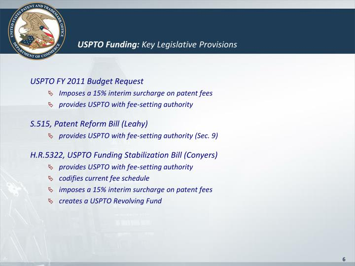 USPTO FY 2011 Budget Request