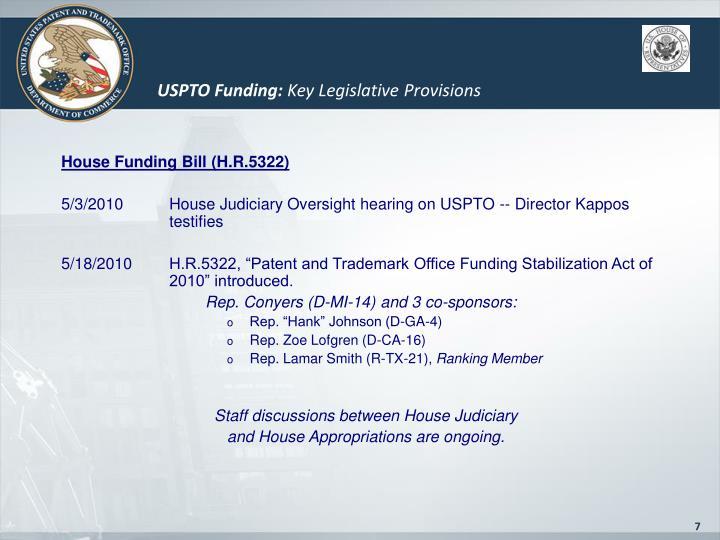 USPTO Funding: