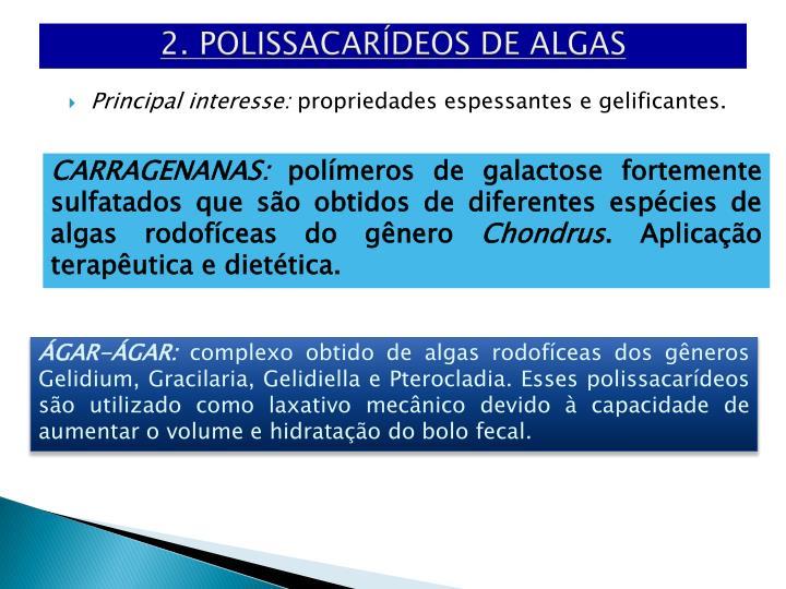 2. POLISSACARÍDEOS