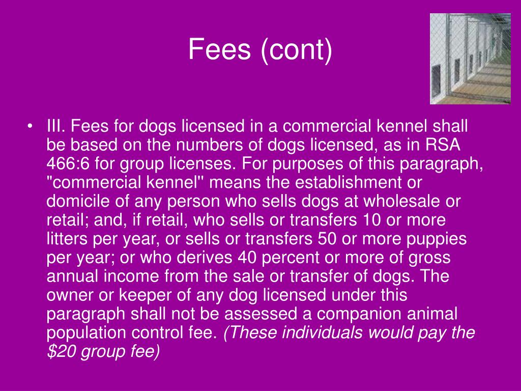 Fees (cont)