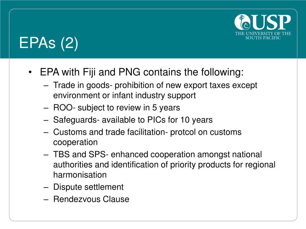 EPAs (2)
