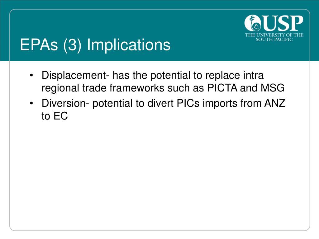 EPAs (3) Implications