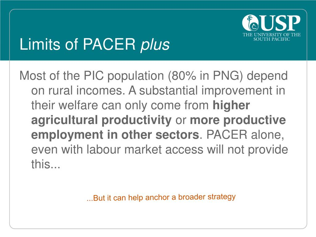 Limits of PACER