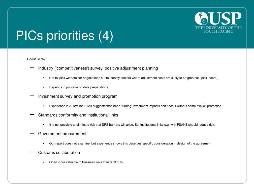 PICs priorities (4)