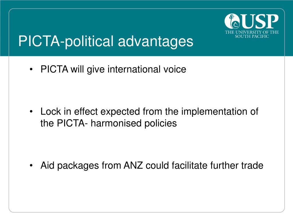 PICTA-political advantages