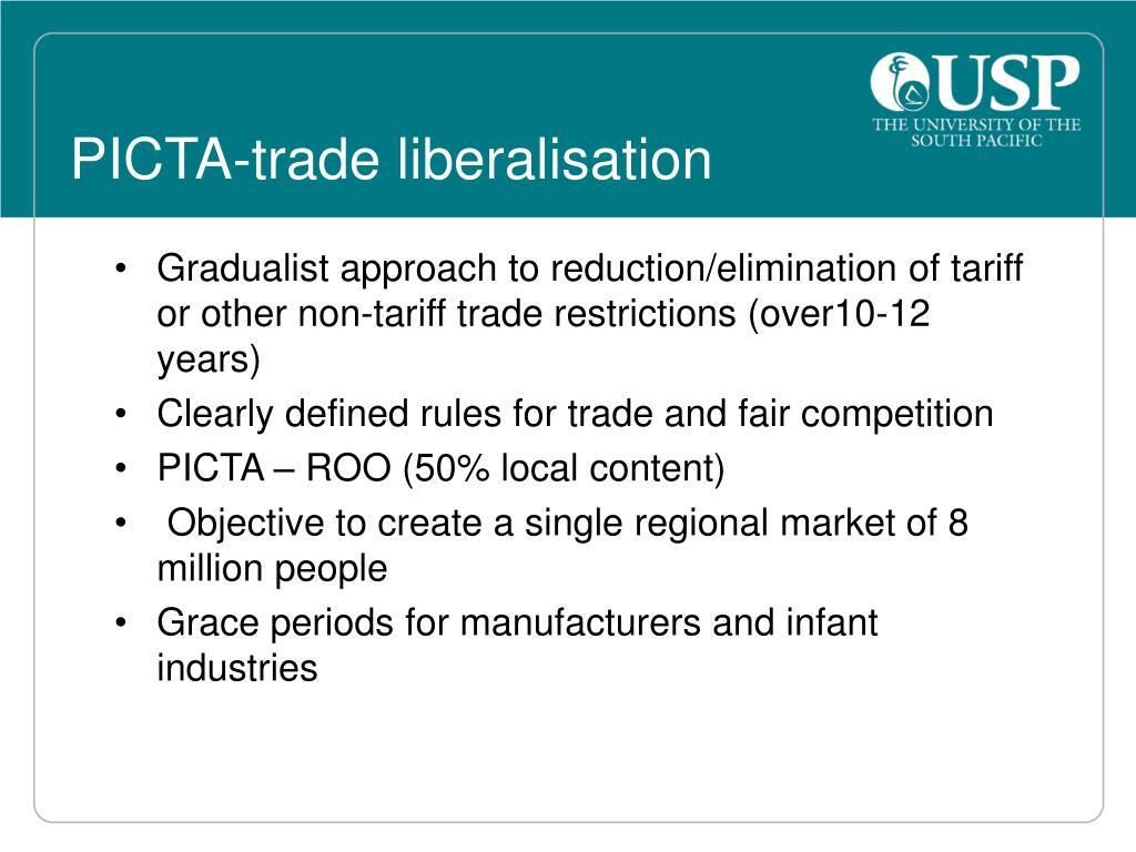 PICTA-trade liberalisation