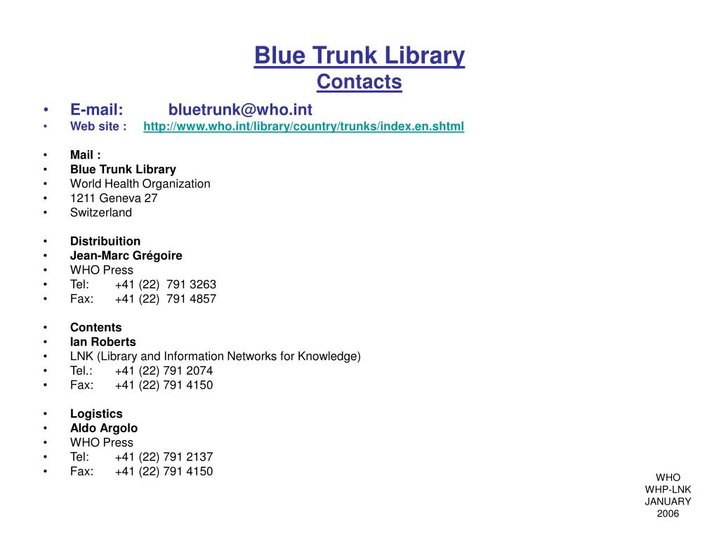 Blue Trunk Library