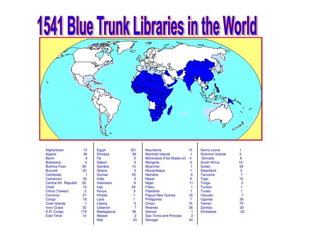 1541 Blue Trunk Libraries in the World