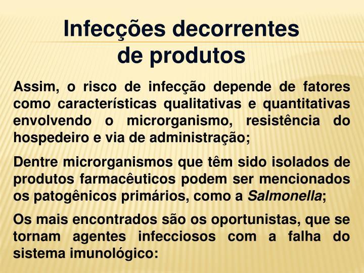 Infecções decorrentes de produtos