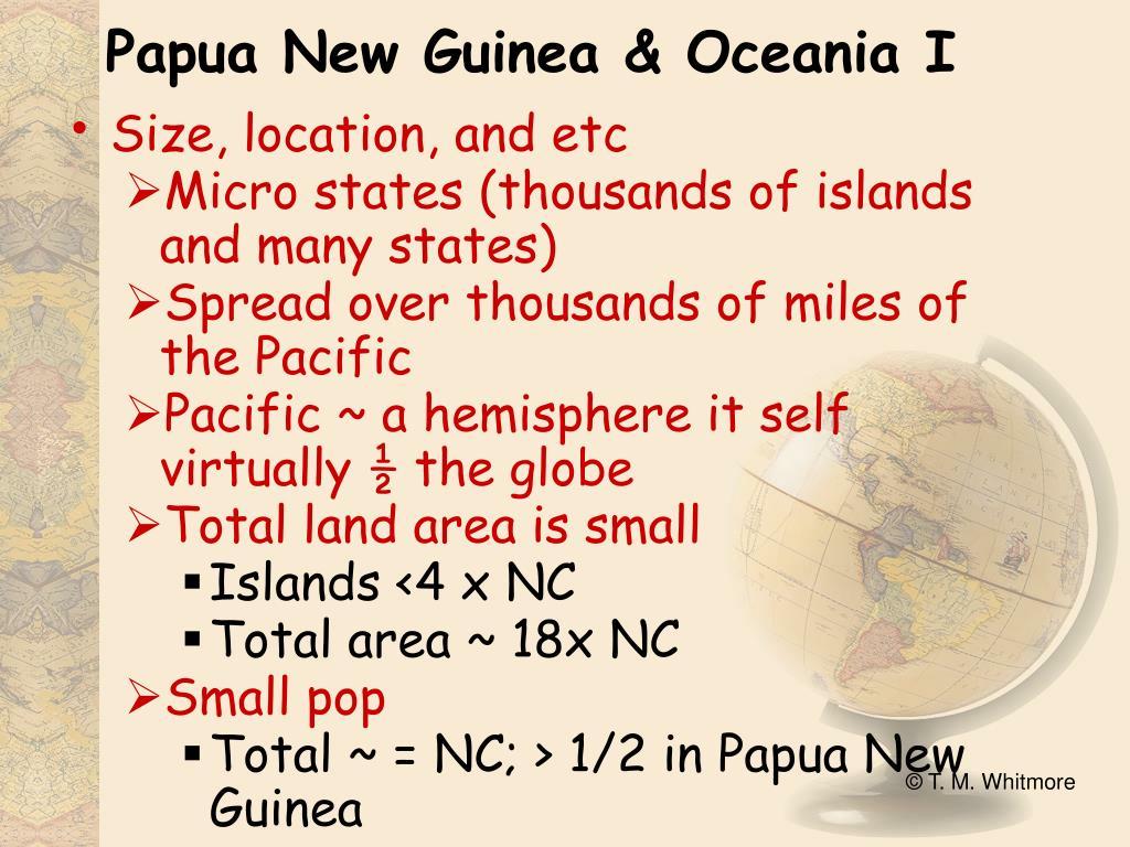 Papua New Guinea & Oceania I
