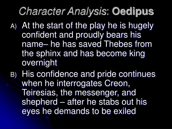 Character analysis oedipus
