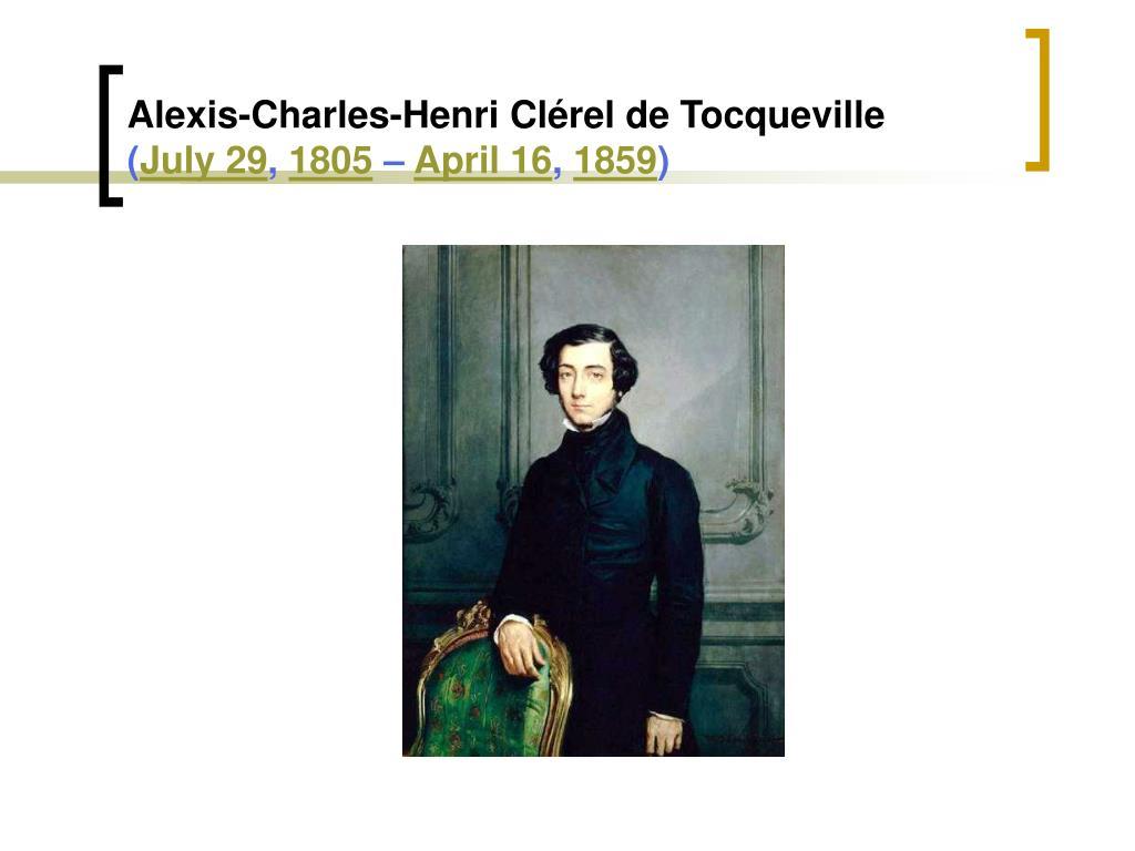 Alexis-Charles-Henri Clérel de Tocqueville