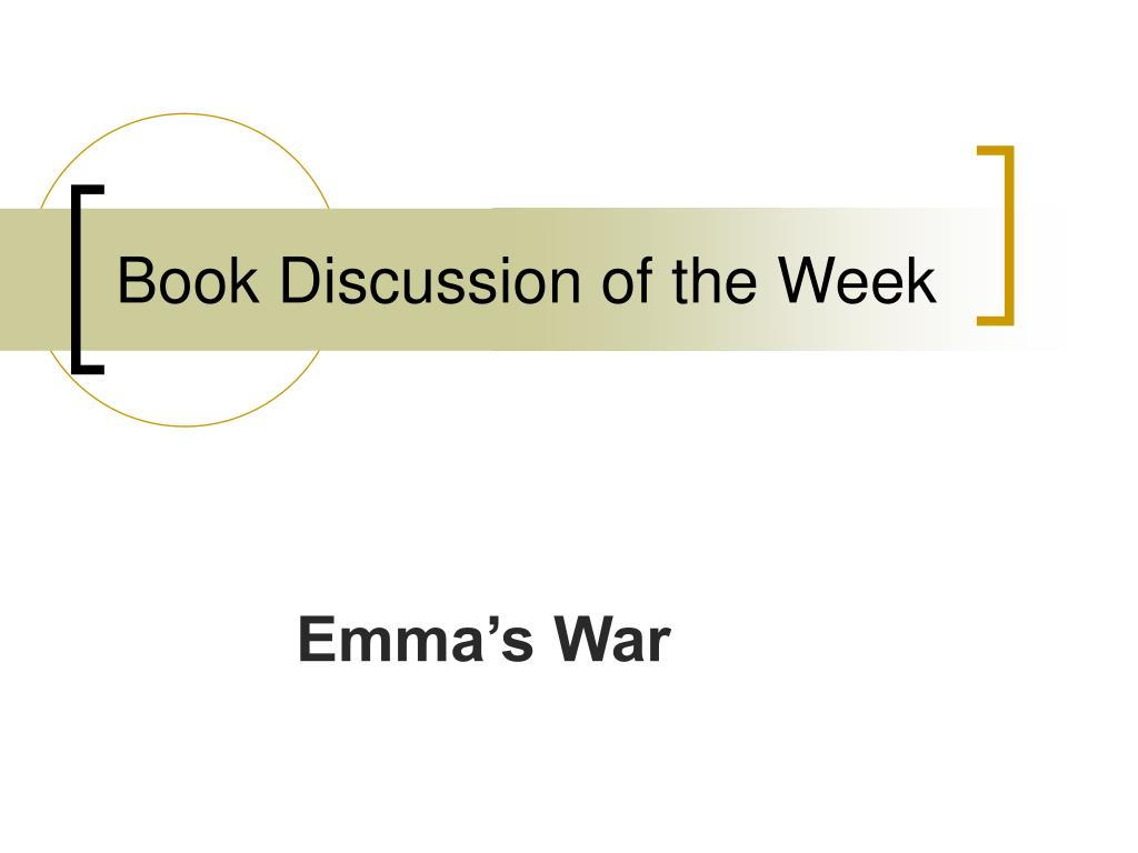 Book Discussion of the Week