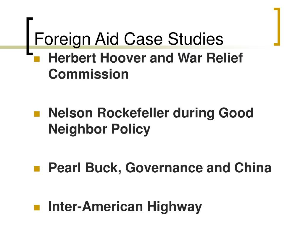 Foreign Aid Case Studies
