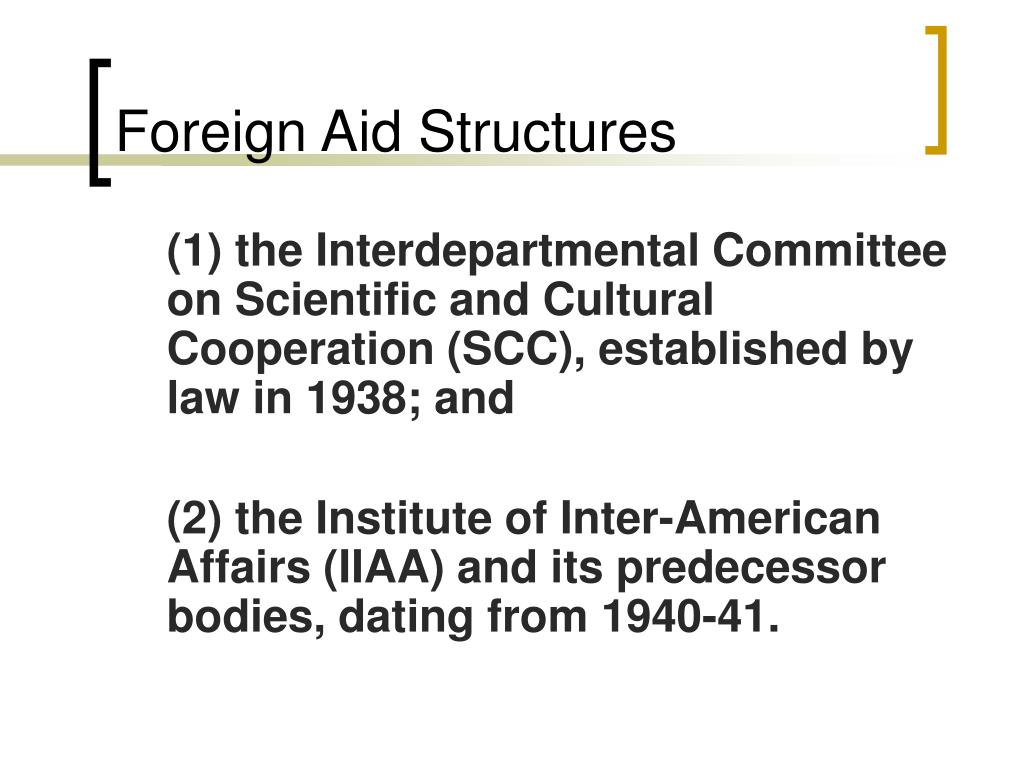 Foreign Aid Structures