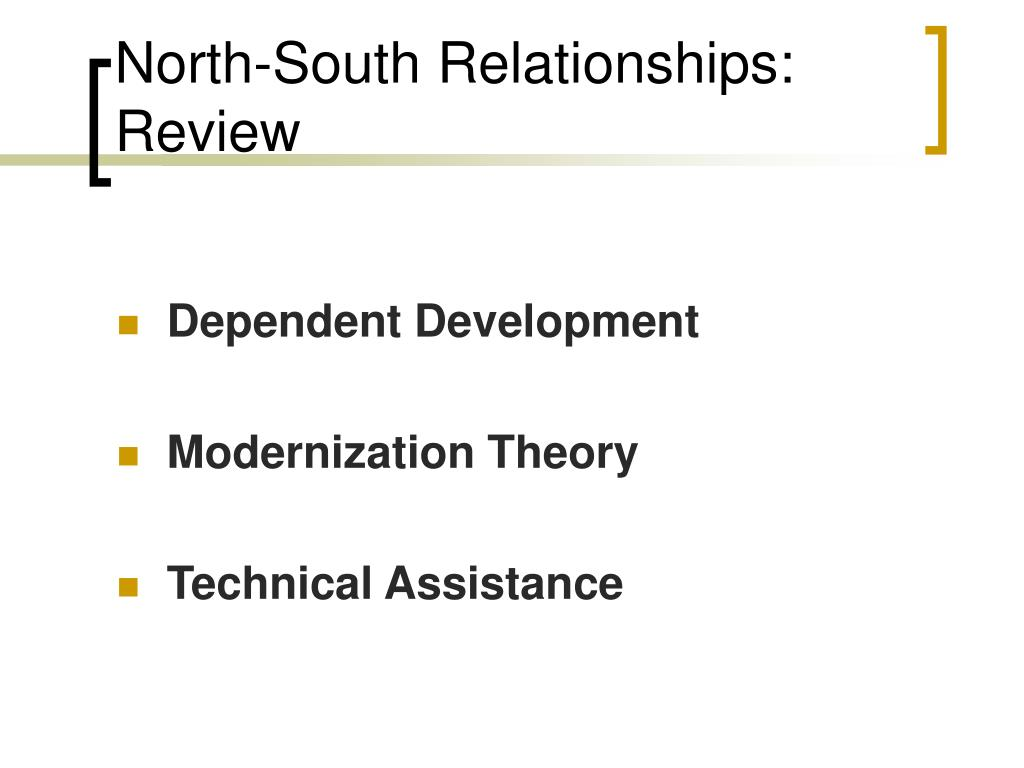 North-South Relationships: Review