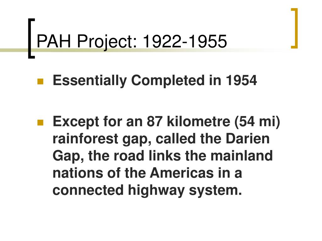 PAH Project: 1922-1955