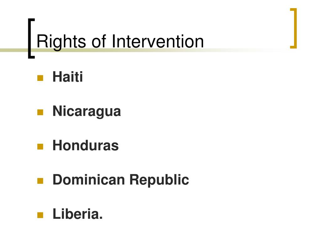 Rights of Intervention