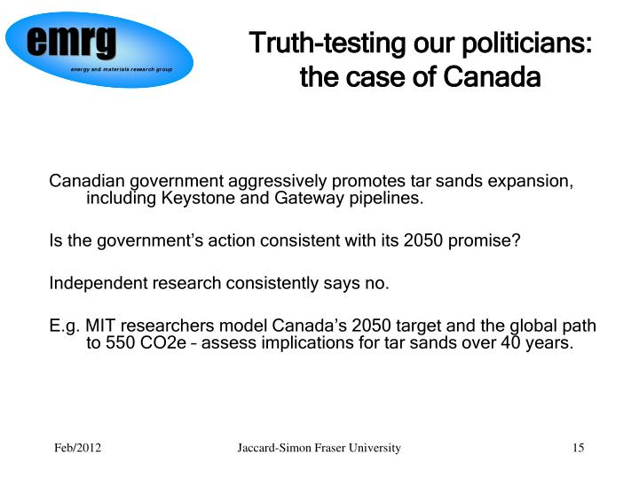 Truth-testing our politicians: