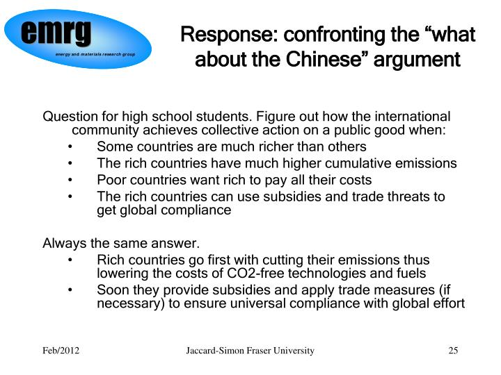 "Response: confronting the ""what about the Chinese"" argument"