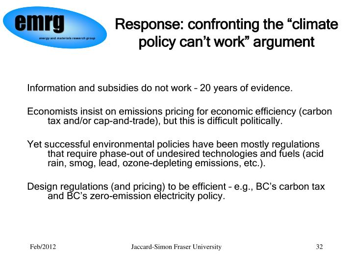 """Response: confronting the """"climate policy can't work"""" argument"""