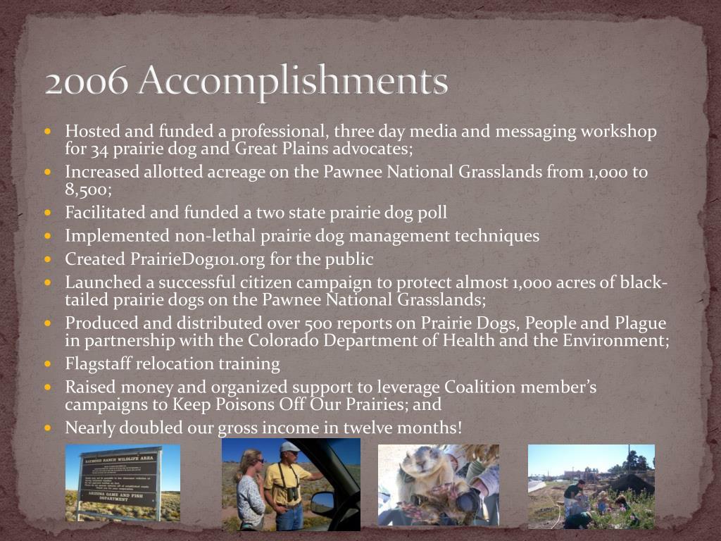 2006 Accomplishments