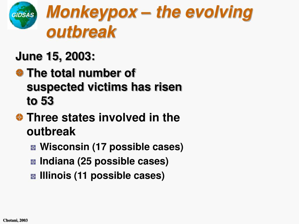 Monkeypox – the evolving outbreak