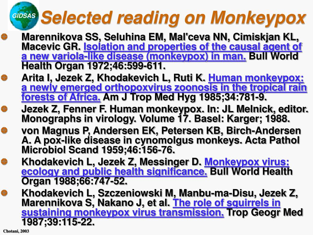 Selected reading on Monkeypox