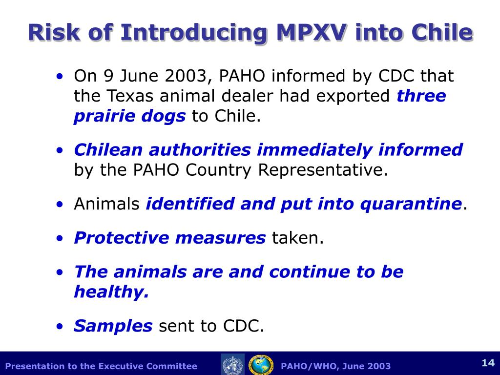 Risk of Introducing MPXV into Chile